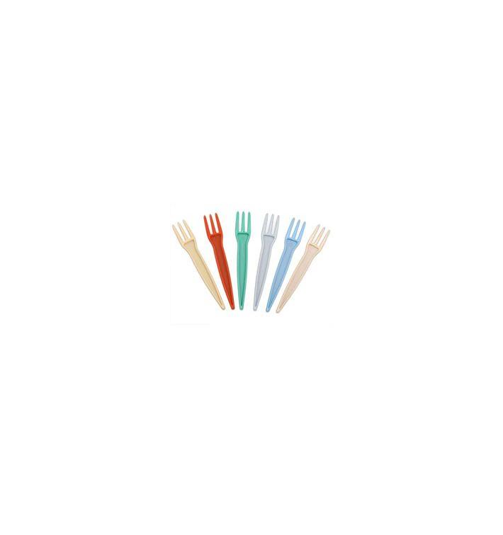 Pommesgabeln farbig 89mm (1.000 Stück)