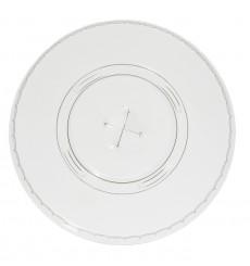 Deckel mit Kreuz Flach für Becher PET 545ml und 610ml Ø9,8cm (100 Stück)