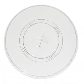 Deckel mit Kreuzschlitz Flach für Becher PET 420ml Ø9,3cm (100 Stück)