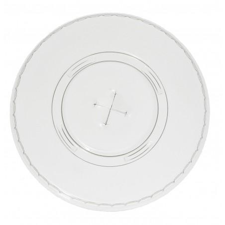 Deckel mit Kreuz Flach für Becher PET 420ml Ø9,3cm (100 Stück)