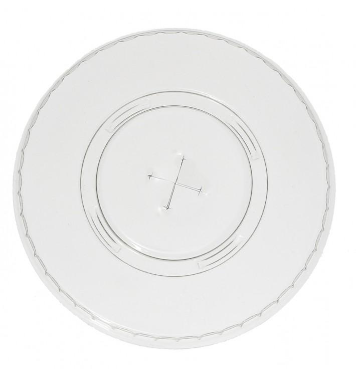 Deckel mit Kreuzschlitz Flach für Becher PET 420ml Ø9,3cm (1.000 Stück)