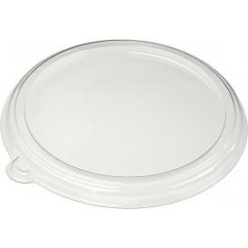 Deckel ohne Loch PET Glasklar Ø21cm (150 Stück)