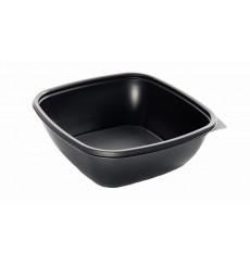 Plastikbehälter Quadratisch schwarz 16,5x16,5x4cm (50 Stück)