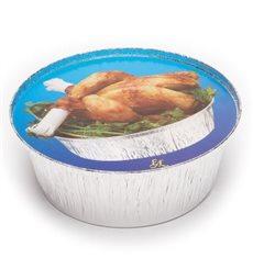 Pappdeckel für runde Aluschalen 935 und 1450ml (125 Stück)