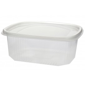 Salatschale Plastik mit Deckel 1.500ml (25 Stück)