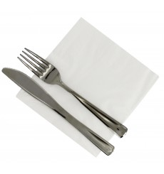 Papierservietten weiß 30x30cm 2-lagig (100 Stück)