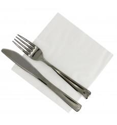 Papierservietten weiß 30x30cm 3-lagig (75 Stück)