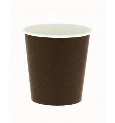 Bio Kaffeebecher To Go braun 4Oz/120ml Ø6,2cm (80 Stück)