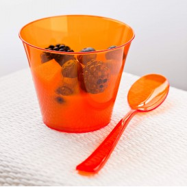 Plastiklöffel orange 160mm (180 Stück)