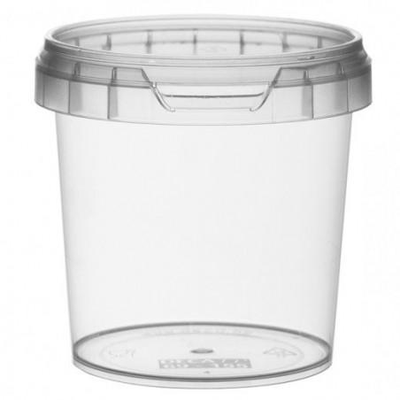 Verpackungsbecher aus Plastik mit Deckel 155ml Ø6,9 (24 Einh.)