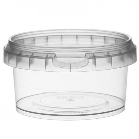 Verpackungsbecher aus Plastik mit Deckel 210ml Ø9,5 (13 Einh.)