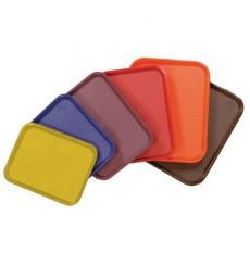 Plastiktablett rechteckig extra hart rot 35,5x45,3cm (12 Stück)