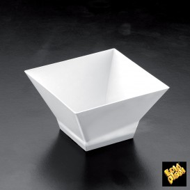 "Plastikschüssel ""Pagoda"" Weiß 150 ml (12 Stück)"