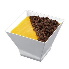 "Plastikbecher ""Pagoda"" Weiß 90 ml (25 Stück)"