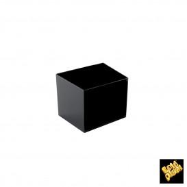 "Plastikschüssel ""Cube"" Schwarz 60 ml (15 Stück)"