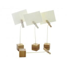Ständer für Karten aus Bambus 130mm (12 Stück)