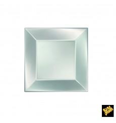 Plastikteller Flach Silber Nice Pearl PP 180mm (300 Stück)
