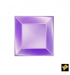 Plastikteller Flach Violett Nice Pearl PP 180mm (25 Stück)
