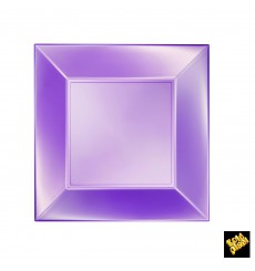 Plastikteller Flach Violett Nice Pearl PP 230mm (300 Stück)