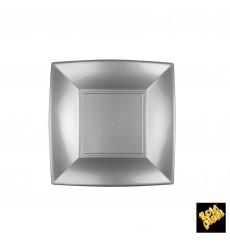 Plastikteller Flach Grau Nice PP 180mm (25 Stück)
