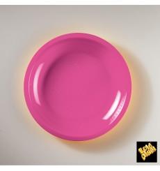 Plastikteller Flach Fuchsia Round PP Ø220mm (50 Stück)
