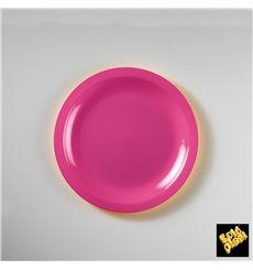 Plastikteller Flach Fuchsia Round PP Ø185mm (50 Stück)