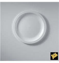 Plastikteller Flach Weiß Round PP Ø185mm (50 Stück)