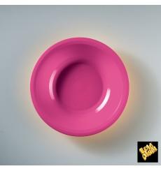 Plastikteller Rund Tief Fuchsia Round PP Ø195mm (50 Stück)