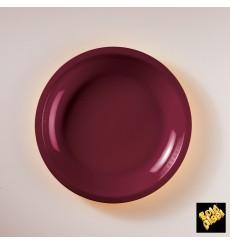 Plastikteller Flach Bordeaux Round PP Ø220mm (600 Stück)