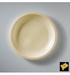Plastikteller Flach Creme Round PP Ø220mm (50 Stück)