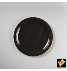 Plastikteller Flach Schwarz Round PP Ø185mm (600 Stück)
