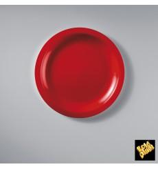 Plastikteller Flach Rot Round PP Ø185mm (50 Stück)