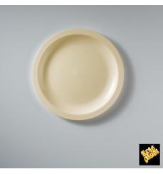 Plastikteller Flach Creme Round PP Ø185mm (50 Stück)