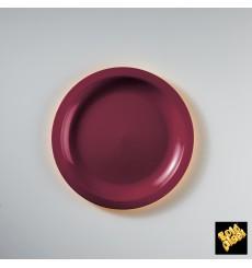 Plastikteller Flach Bordeaux Round PP Ø185mm (50 Stück)