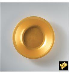 Plastikteller Rund Tief Gold Round PP Ø195mm (600 Stück)