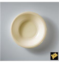 Plastikteller Rund Tief Creme Round PP Ø195mm (600 Stück)