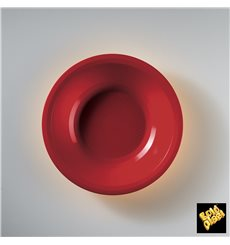 Plastikteller Rund Tief Rot Round PP Ø195mm (50 Stück)