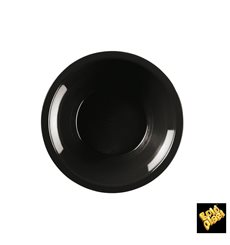 Plastikteller Rund Tief Schwarz Round PP Ø195mm (600 Stück)