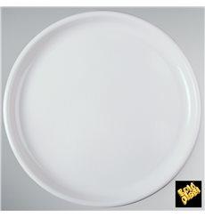 Plastikteller Rund für Pizza Weiß Round PP Ø350mm (12 Stück)