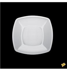Plastikteller Flach Quadratisch Weiß Square PP 230mm (25 Stück)