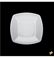 Plastikteller Flach Quadratisch Weiß Square PP 180mm (25 Stück)