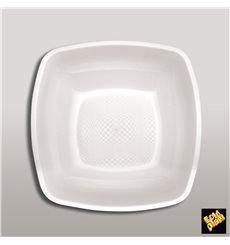 Plastikteller Tief Weiß Square PP 180mm (25 Stück)