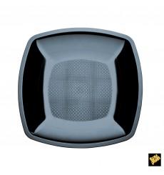 Plastikteller Flach Schwarz Square PS 230mm (25 Stück)