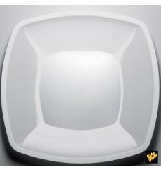 Plastikteller Flach Weiß Square PS 300mm (12  Stück)