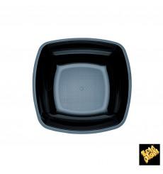 Plastikteller Tief Schwarz Square PS 180mm (300 Stück)