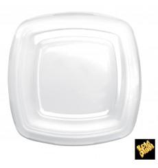 Plastikdeckel Transp für Teller Square PET 180mm (25 Stück)