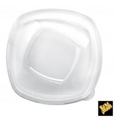 "Plastikdeckel PET Glasklar ""Square"" Ø21cm (60 Stück)"