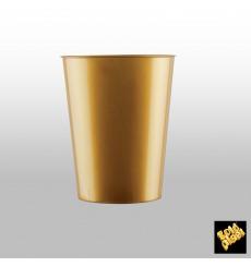 Becher aus Hartplastik Moon Gold PS 320ml (20 Stück)