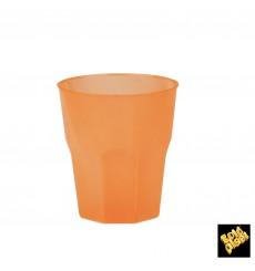 """Becher aus Hartplastik """"Frost"""" Orange PP 270ml (20 Stück)"""