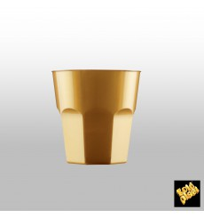 Plastikbecher für Cocktail Gold PS Ø73mm 220ml (1000 Stück)